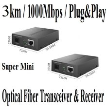 20km single mode Optische Faser Transceiver & Empfänger, 100Mbps SC port, 100Mbps RJ45 Port, RX/TX: 1550nm, RX/TX: 1310nm, Plug & Play(China)