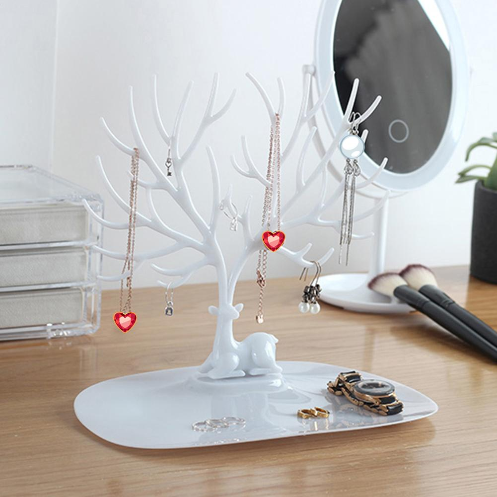 Antler Tree Jewelry Hanging Organizer Rack Earrings Necklace Ring Display Stand Jewelry Tree Branches Using Staghorn Design