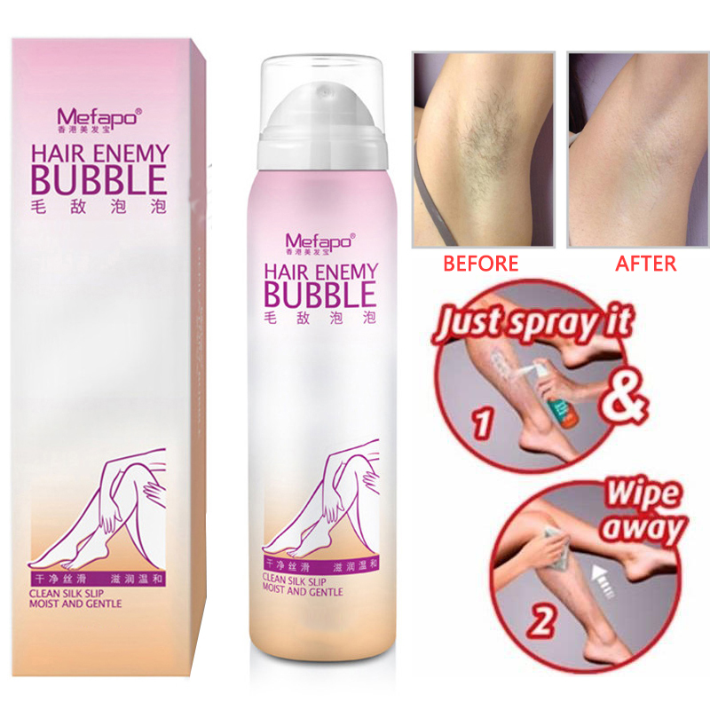 98/130ml Hair Removal Cream Spray Painless Hair Enemy Bubble Depilatory Cream Smooth Skin Body Master Removal Cream Foam Mousse