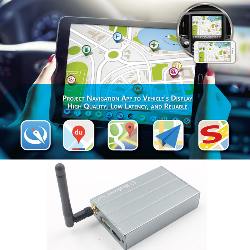 Mirascreen C1 Auto voiture WiFi affichage Dongle Smart Media Streamer sans fil écran Mirroring Miracast Airplay DLNA pour téléphone portable