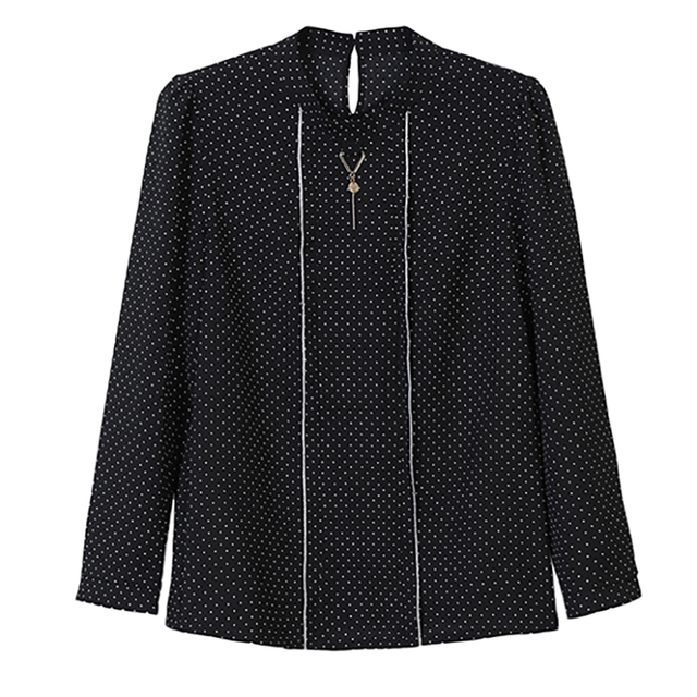 Polka Dot Shirts Woman Clothes Long Sleeve Chiffon Blouse Women 2020 Spring Tops New Button Blouses Casual Black Chemisier Femme 4