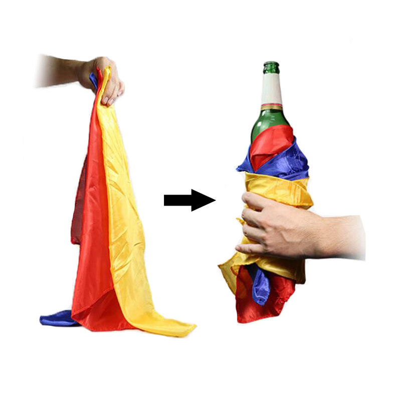 1 Set Appearing Bottle From Handkerchiefs Silk Magic Tricks Professional Magician Trick Magic Gimmick With Tutorial