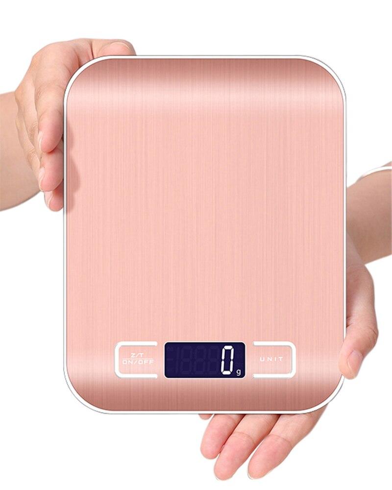 מקצועי ביתי דיגיטלי בקנה מידה אלקטרונית מזון נירוסטה מאזניים משקל איזון מדידת כלים g/kg/lb/oz/ml