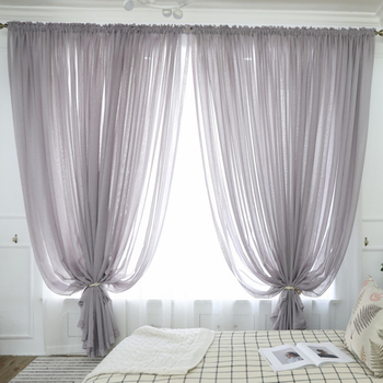 300cm Height Pure Color Curtain Living Room Window Finished Tulle Sheer Voile Curtains For Bedroom Rideaux Voilage Drapes