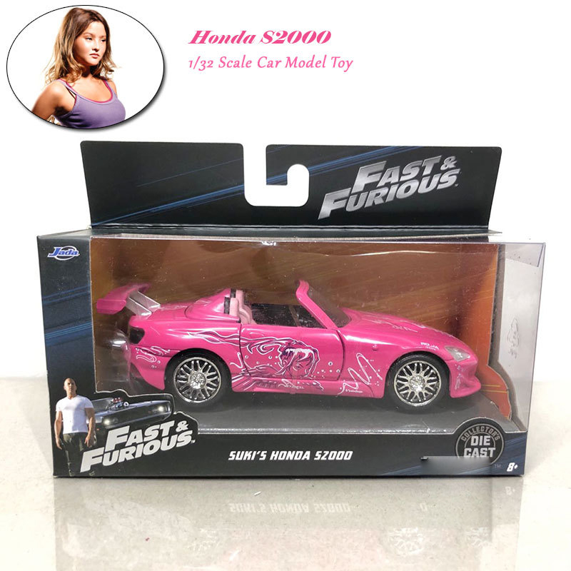 1/32 Fast And Furious Cars Suki's HONDA S2000 Simulation Metal Diecast Model Cars Kids Toys