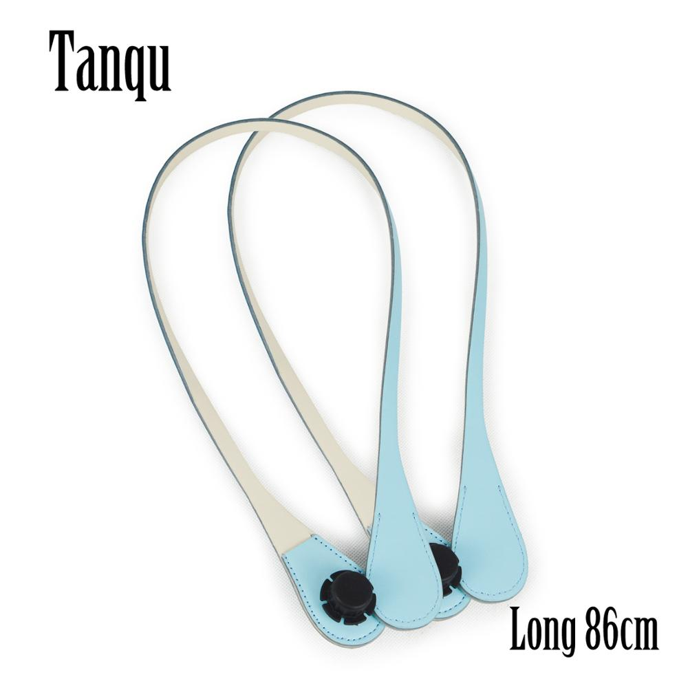 TANQU New Long Extra Slim Interchangeable Teardrop Handles Faux Leather Handles For OBag  For EVA O Bag Body