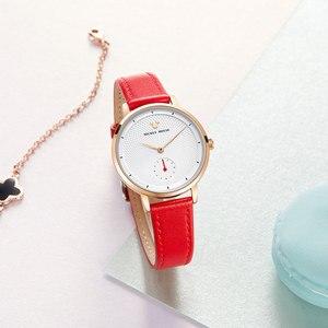 Image 5 - 2020 New Luxury Womens Fashion Trendy Wristwatch Female Disney Quartz Watch Leather Woman Watches Lady Girls Gift Mickey Clock