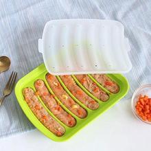 1 шт., силиконовая форма для изготовления колбас, сделай сам, хот-дог, ручная работа, форма для ветчины, колбасы, 6 в 1, кухонный инструмент для изготовления и охлаждения хот-догов