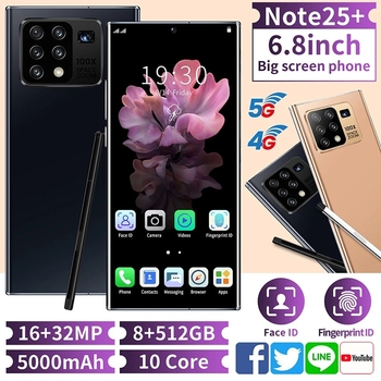 Global Version Galxy N25+ Smartphone 8-core 128/256 GB FullScreen Android 10.0 Face ID Dual Camera 4G Smart Mobile Cell Phone