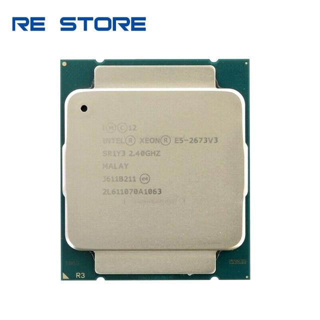 Б/у Intel Ксеон E5 2673 V3 2,4 ГГц 12 ядер возможностью погружения на глубину до 30 м LGA2011 3 процессор E5 2673V3 процессор