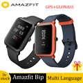 Amazfit Bip GPS montre intelligente 45 jours d'autonomie IP68 étanche montre de sport fréquence cardiaque et moniteur de sommeil rappel d'appel
