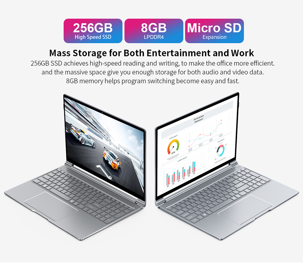 Teclast F15 Windows 10 Laptop 15.6 inch 1920x1080 FHD Intel Gemini Lake N4100 8GB RAM 256GB SSD Notebook Backlit Keyboard