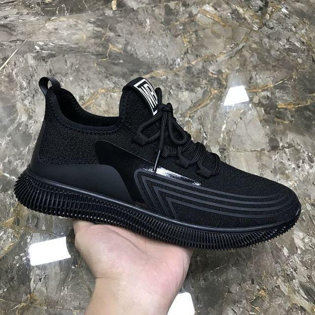 Zapatillas de tenis transpirables para Hombre, zapatos masculinos ligeros y originales, color blanco, para caminar, talla grande, 2021 3