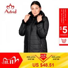 Astrid Зимняя куртка женская куртка с капюшоном плюс размер теплые манжеты Волосатая женская куртка грива одежда Украина куртки AM 2059