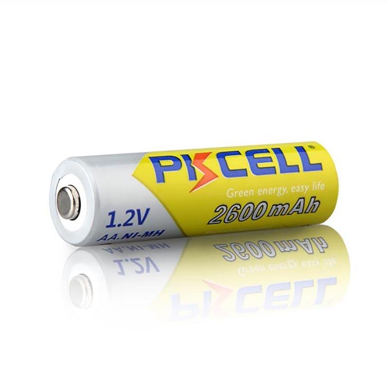 Pkcell 4 pces ni-mh aa baterias 2600