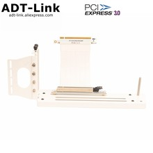 Branco gtx rtx gpu placa gráfica vertical atx caso pci-e suporte embutido externo gen3.0 pcie 16x para 16x riser extensor cabo l