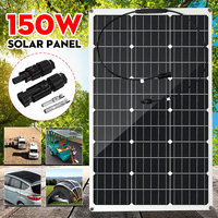 150W 18V Solar Panel Semi flexible Monocrystalline Solar Cell DIY Module MC4 Cable Outdoor Connector Battery Charger Waterproof
