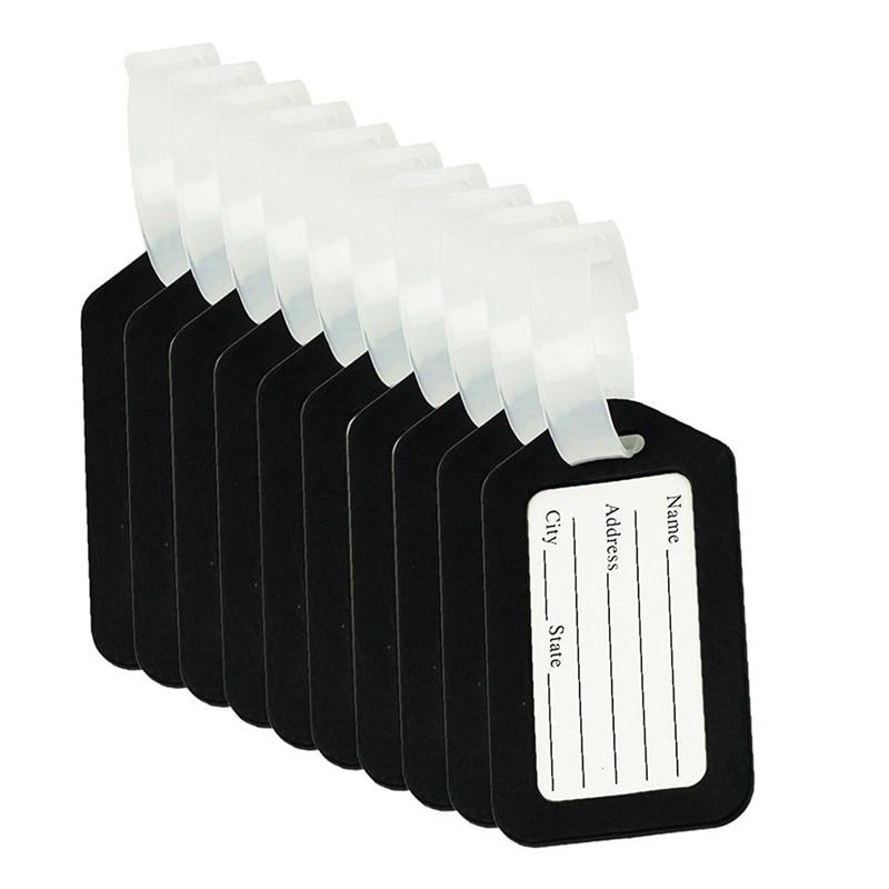 10 Uds etiqueta equipaje maleta etiqueta bolsa accesorios de viaje 100 unids/set 2019 caliente de plástico a prueba de agua etiquetas colgantes para plantas jardinería planta marcador herramientas de etiquetas 20X2cm