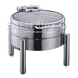 4L szklana pokrywa sos kuchenka okrągła zupa kuchenka zupa sos pojemnikiem na sos okrągła szklana pokrywa (na kuchenka indukcyjna) posiłek kuchenka 1PC w Roboty kuchenne od AGD na