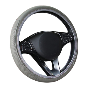 Image 2 - New Car Steering Wheel Cover Artificial Leather Elastic Skidproof Auto Steering  Wheel Embossing Leather Over Car styling