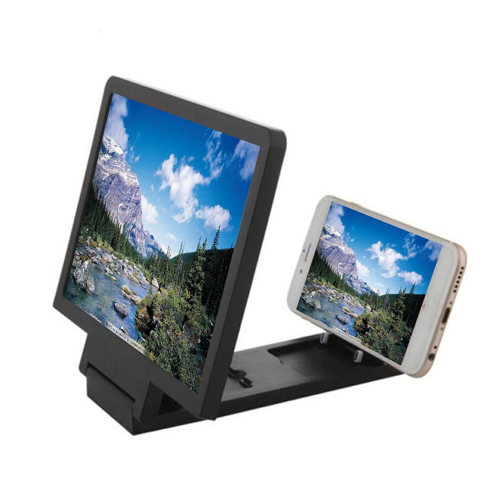 Mobile Phone Screen Magnifier Eyes Protection Display 3D Video Screen Amplifier Folding Enlarged Expand Stand Holder