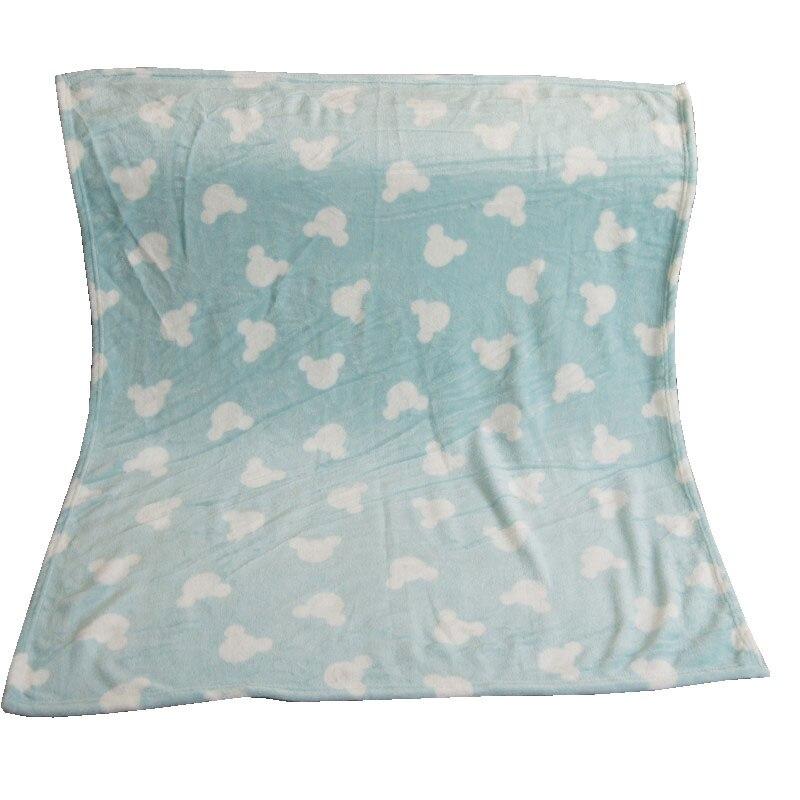 Dessin animé Disney | Couvertures en molleton pour bébé, 70x100cm, bleu lac Mickey Mouse, petit coberteur, sur plan de lit, pour enfants