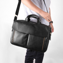 Cobbler Legend Men Briefcase Business Office Bag Genuine Leather Shoulder Messenger Bags 14 Inch Laptop Handbag 2019