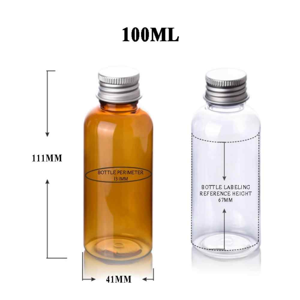 Para emulsão emoliente do gel do chuveiro da água-3.4oz e 6.8oz espremer recarregáveis com frasco interno do potenciômetro do frasco do recipiente da amostra da rolha