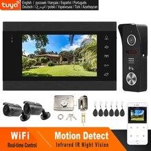 HomeFong Wifi فيديو إنترفون اللاسلكية الباب إنترفون مع قفل 2 كاميرا التطبيق عن إفتح الوقت الحقيقي نظام مراقبة الدخول