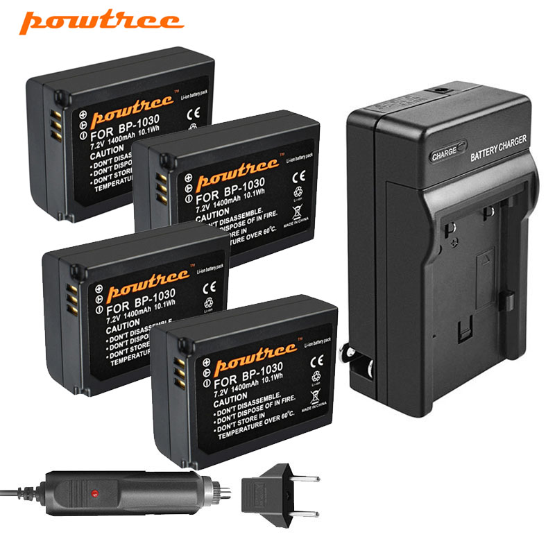 Powtree 1400mAh BP-1030 BP1030 Replacement Camera Battery + <font><b>Charger</b></font> For <font><b>Samsung</b></font> NX200 NX210 NX300 <font><b>NX1000</b></font> NX1100 image