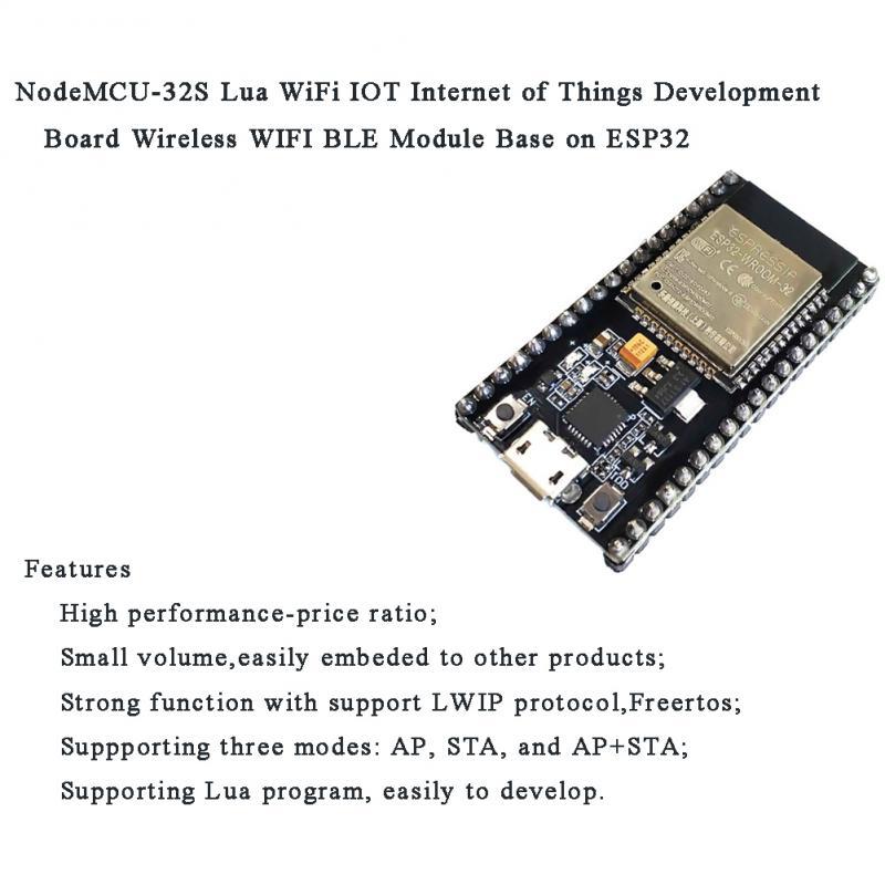 1pc NodeMCU-32S lua wifi iot placa de desenvolvimento módulo sem fio base do módulo na operação esp32 simples e conveniente pequeno