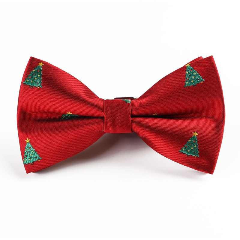 חג המולד קשת עניבת ילדי פתית שלג עץ חג המולד דפוס Bowtie למבוגרים בני ילדים מתנות BowTies איש פסטיבל מסיבת אבזרים