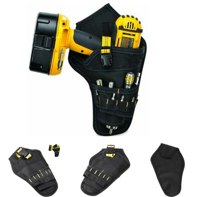 Multi-functional Drill Cordless Tool Holder Pocket Loops Heavy Duty Tool Belt Pouch Bag