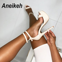 Aneikeh NEW Summer Gladiator Sexy Sandals Shoes