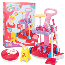 Hot Children's Play House Cleaning Toy Clean Up Sweeping Mop Automatic Sweeper Early Education Learn Housework Cleaning Tool Set