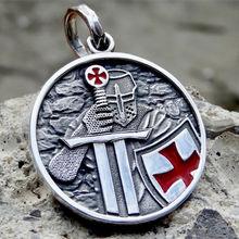Eyhimd Рыцари крест тамплиеров кулон Цепочки и ожерелья 316l