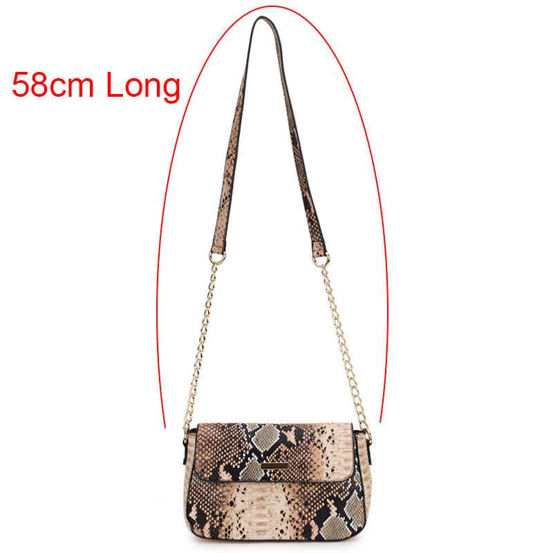 Pequena bolsa crossbody para as mulheres 2019 cobra imprimir couro bolsa de ombro feminina corrente mensageiro saco das senhoras sacos de mão sac principal femme