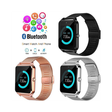 Z60 Bluetooth Smart Watch GT08 Plus Metal Clock Relogio Sport Pedometer Wrist Smartwatch Support Sim TF Camera Android IOS