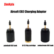 Airsoft CO2 Refill Charging Adapter Adaptor to Paintball Tank / Disposable Cartridge/ Sodastream Tank