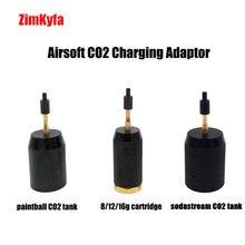 Airsoft CO2 מילוי טעינת מתאם מתאם כדי פיינטבול טנק/חד פעמי מחסנית/Sodastream טנק