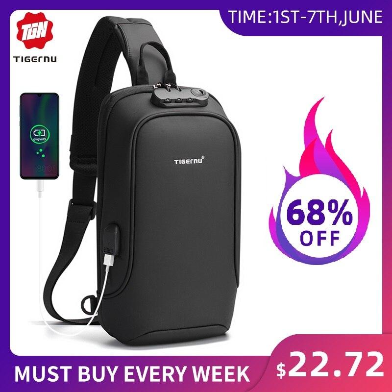 Tigernu New Men Bag Crossbody Bag RFID Shoulder Bag Splashproof High Quality Male Messenger Bag For Men Sling Bags For Teenagers