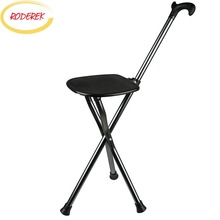 Chair Walking-Stick Portable-Chain Elder with Aiding-Tools Metal