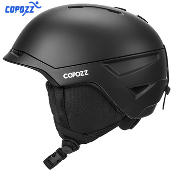 COPOZZ Classic Men Women Ski Helmet Integrally-molded Skiing Helmet Skateboard Ski Snowboard Helmet Mask for Winter Sports high quality ski snowboard helmet pc eps skiing helmet for adult and kids snow helmet safety skateboard helmet