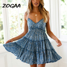 New Women Dress 2019 Summer Boho Floral Ruffles Lace Mini Dresses Lady Chic Sexy Wrapped Slim Beach Vestidos Robe Femme