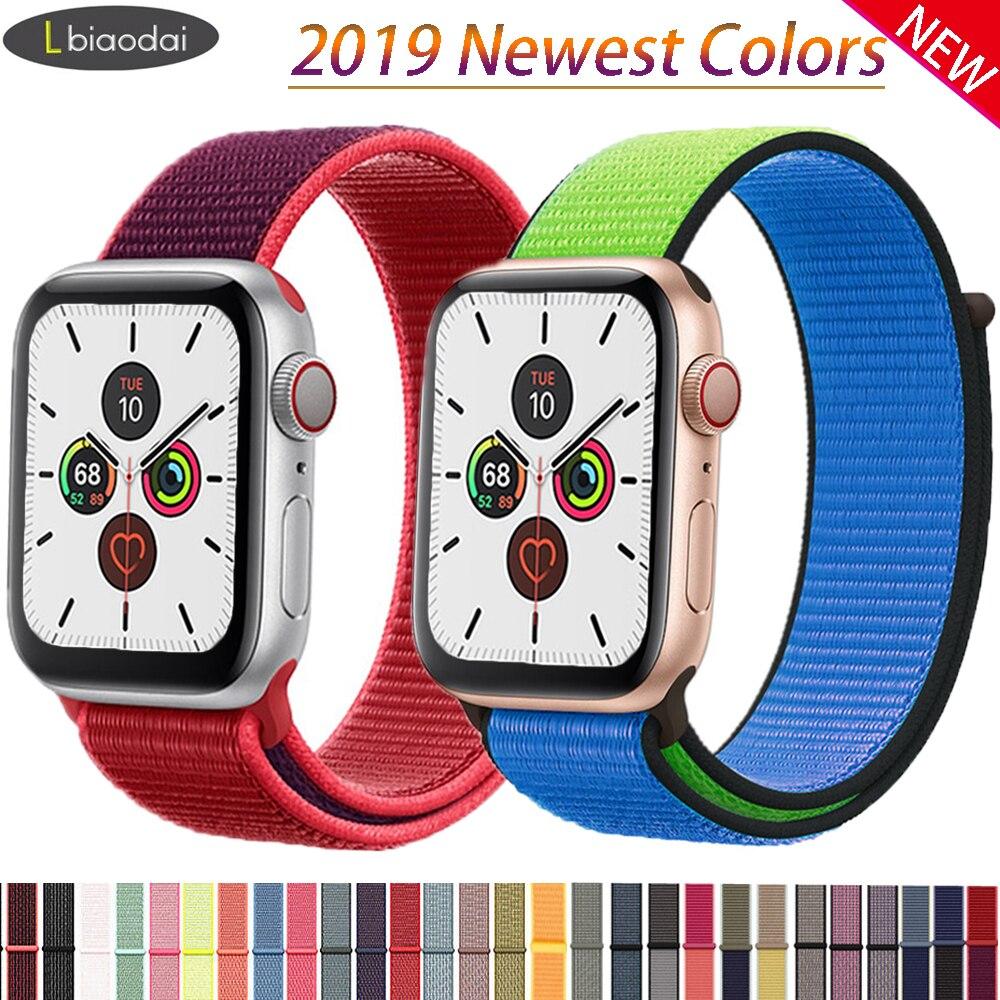 Nylon Strap For Apple Watch Band Strap 44mm 40mm IWatch Band 42mm 38mm Sport Loop Belt Bracelet Apple Watch 5 4 3 2 1Accessories