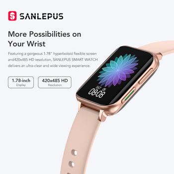 SANLEPUS 2021 Smart Watch Men Women Waterproof Watches Bluetooth Call Smartwatch MP3 Player For OPPO Android Apple Xiaomi Huawei 5