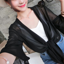 Womens Sexy Chiffon Coat Jacket Cape Shawl Beachwear Bohemia tops shawl coat Sun Protection Cardigan Kimono Shirt