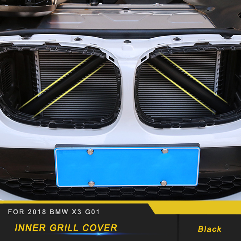 For <font><b>BMW</b></font> <font><b>X3</b></font> <font><b>G01</b></font> X4 G02 2017 2018 2019 Car Bracket Interior <font><b>Accessories</b></font> Rubber Inner Grill Cover Mount Holder Inner Grill Cover image