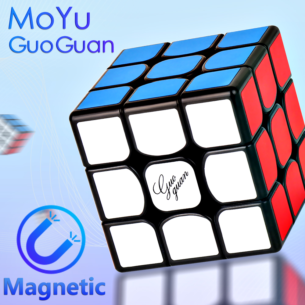 MoYu GuoGuan YueXiao EDM 3x3x3 Magic Magnetic Cube Professional YueXiao E Magnets Speed Cubse Puzzle Cubo Magico 3x3 Moyus Gift