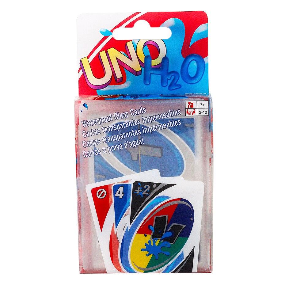 Игровая карта UNO, креативная прозрачная пластиковая игровая карта, водонепроницаемая, можно мыть